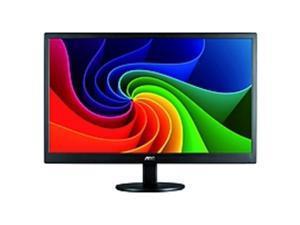"AOC E970SWN 18.5"" LED LCD Monitor - 16:9 - 5 ms - Adjustable Monitor Angle - 1366 x 768 - 16.7 Million Colors - 200 Nit - 700:1 - WXGA - VGA - 15 W - Black - RoHS, ENERGY STAR 6.0, EuP, EPEAT ..."