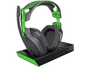 Astro A50 Wireless Headset + Base Station - Stereo - Green, Gray - Wireless - 30 ft - 20 Hz - 20 kHz - Over-the-head, Over-the-ear - Binaural - Circumaural - Noise Canceling