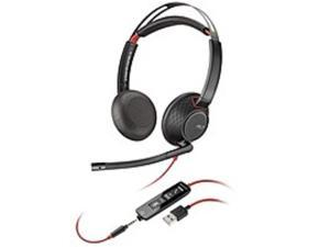 USB Type-A Stereo On-Ear Mono Wired Headset - Black