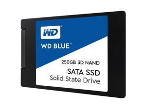 "WD Blue 3D NAND 250GB PC SSD - SATA III 6 Gb/s 2.5""/7mm Solid State Drive - 550 MB/s Maximum Read Transfer Rate - 525 MB/s Maximum Write Transfer Rate"