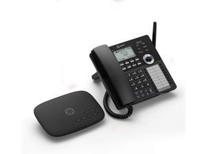 Ooma Telo TELO1DP1 Cordless Phone Base Station with DP1-T Cordless Phone - Dect 6.0 - Black