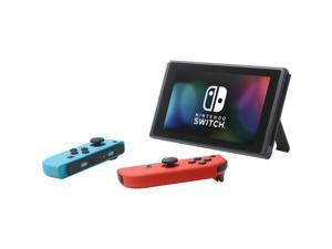 Nintendo HADSKABAA Switch Gaming Console with Neon Blue and Red Joy-Con Controllers - Black