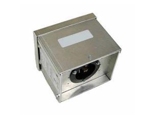 Generac 6343 30 Amp 4 Prong Raintight Aluminum Power Inlet Box, Power Inlet Box