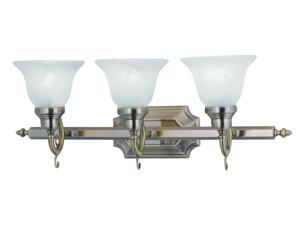 Livex Lighting French Regency Bath Light in Antique Brass - 1283-01