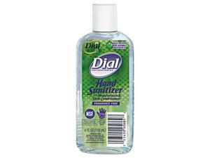 Dial Antibacterial Hand Sanitizer With Moisturizers, 4 Oz Bottle, Frag