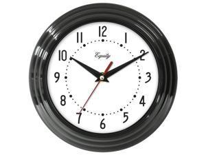 Equity By La Crosse 8.25in. Black Frame Quartz Wall Clock  25013