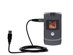 Charge and Data Sync with the same cable Hot Sync and Charge Straight USB cable for the Motorola ROKR E8 Built with Gomadic TipExchange Technology
