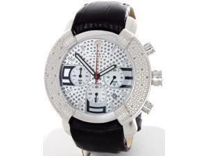 abaaff095 Aqua Master W#96 7 Silver Dial Leather Chrono Diamond Men's Watch