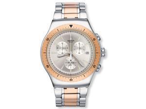 Swatch YOS452G So Biggar Silver Dial Two Tone Chronograph Men's Watch