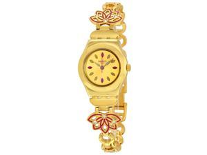 Swatch YSG140G Irony Gold Dial Gold Tone Stainless Steel Women's Watch