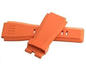 Original Bell & Ross 24mm x 24mm Orange Rubber Replacement Strap