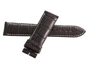 Genuine Longines 22mm x 20mm Brown Alligator Leather Watch Band Strap L682120161