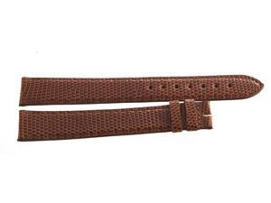 Genuine Longines 18mm x 16mm Lizard Brown Leather Watch Band Strap
