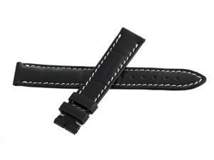 Genuine Longines 15mm x 14mm Black Watch Band Strap L682135764