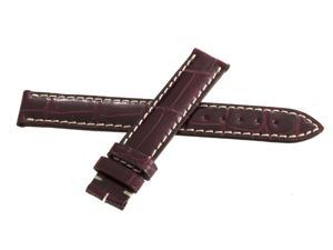 Genuine Longines 14mm x 14mm Burgundy Watch Band Strap