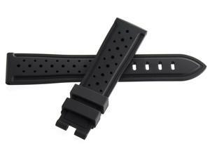 Montblanc Men's 20mm x 18mm Black Rubber Watch Band Strap