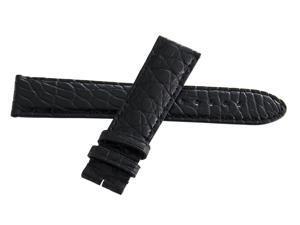 Montblanc Men's 20mm x 18mm Black Alligator Leather Watch Band Strap FYB