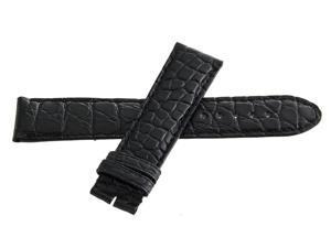 Montblanc Men's 20mm x 18mm Black Alligator Leather Watch Band Strap FXE