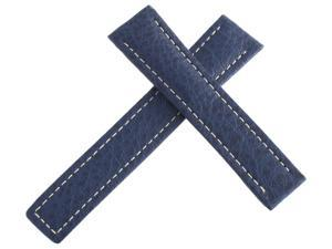 TAG Heuer Men's Blue Genuine Leather Strap Band 20mm x 17mm