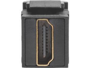 TRIPP LITE P164-000-KPA-BK HDMI Coupler Keystone Panel Mount Angled All-in One F/F Black