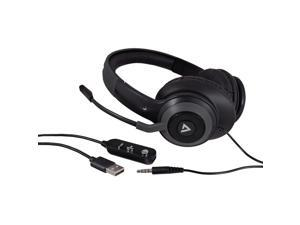 V7 Premium Over-Ear Stereo Headset with Boom Mic HC701