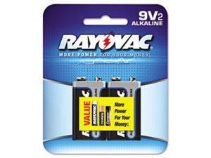 Rayovac Alkaline Batteries 9V 2/Pack Recloseable Pkg A16042K