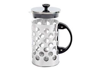 Mr. Coffee Table Ware - 1 quart Coffee Press - Glass Carafe, Stainless Steel Filter, Stainless Steel Lid - Brewing - Dishwasher Safe - Black, Stainless Steel