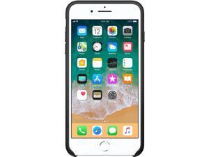 Apple iPhone 8 Plus / 7 Plus Leather Case - Black - iPhone 7 Plus, iPhone 8 Plus - Black - Silicone, Leather