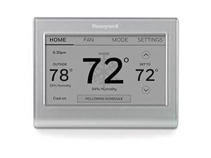 Honeywell Home - Smart Color Thermostat with Wi-Fi Connectivity, 7 Day Programmable, Customizable Color Touchscreen Display, ENERGY STAR Certified - Silver (RTH9585WF1004)