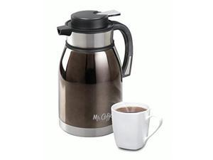Mr. Coffee 108160.01 2-Quart Colwyn Double Wall Coffee Pot, Charcoal