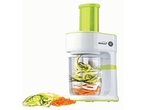Brentwood FP-560G 5-Cup Electric Vegetable Spiralizer and Slicer - Green, White