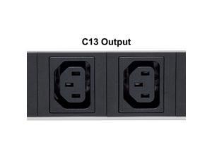 Intellinet Network Solutions Vertical Rackmount Power Distribution Unit (Pdu) 12 C13 Outlets Air Switch For Each Output Removable Power Cable Rear C14 Input