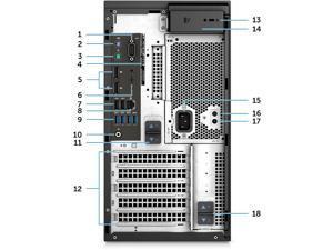DELL Precision SBR24 3630 Workstation i7-8700K 16GB 1TB 256GB SSD W10P