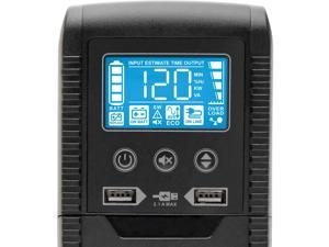TRIPP LITE Line Interactive ECO1300LCD UPS with USB and 10 Outlets - 120V, 1300 VA, 720 Watts, ECO Series