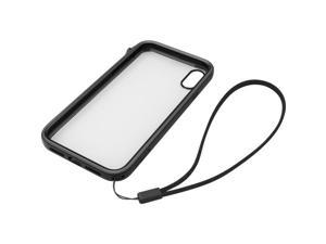 Catalyst Carrying Case for Apple iPhone Xs Max - Stealth Black, Clear - Drop Resistant, Dust Resistant, Debris Resistant, Scratch Resistant, Impact Resistant, Anti-slip - Polymer, Rubber - Lanyard Str