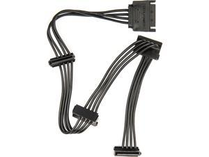 Rocstor Splitter Cord - for Hard Drive, Solid State Drive, Optical Drive - Black
