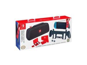 goplay game traveler pack, premium hard case made with ballistic nylon, bonus: two multigame cases, cloth & thumb covers, black  nintendo switch