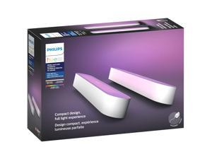 Philips Hue Play White & Color Ambiance Smart LED Bar Light, 2-Pack, White (Works with Amazon Alexa, Apple Homekit & Google Home)