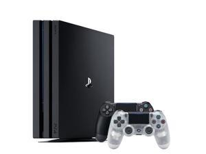 PlayStation 4 Pro 1TB Console Black + Sony DualShock 4 Wireless Controller Crystal