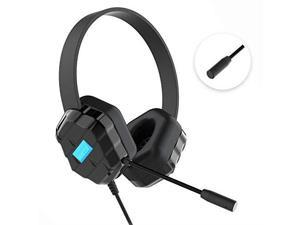 Gumdrop DropTech B1 Headsets - Stereo - Mini-phone - Wired - Over-the-head - Binaural - Circumaural - 6 ft Cable - Black