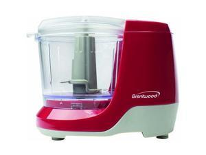 Brentwood MC-109R 1.5 Cup Mini Food Chopper, Red - 1.5 Cup (Capacity) - 100 W - Red
