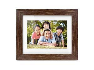 """Aluratek 7"""" Distressed Wood Digital Photo Frame with Auto Slideshow Feature, 800 x 600 (ADPFD07F)"""