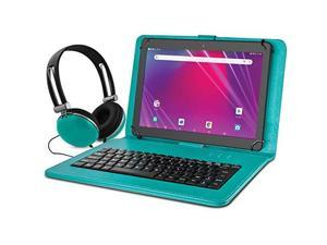 """Ematic EGQ239BDTL 10.1"""" Tablet 16 GB Android 8.1 Headphone and Leather Bundle"""