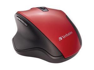 Verbatim Silent Ergonomic Wireless Blue LED Mouse Red 70243
