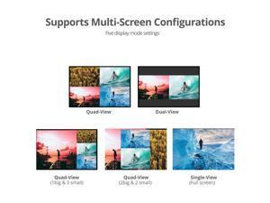 SIIG - CE-H25R11-S1 - SIIG 4x1 HDMI Seamless Quad-Split Multi-Viewer Switcher - 1920 x 1080 - Full HD - 4 x 1 - 1 x HDMI