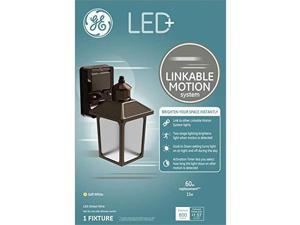 GE LED+ Linkable Motion Outdoor Light Fixture, Soft White, 60-Watt LED Coach Light Replacement, Decorative Porch Lights and Outdoor Wall Lights