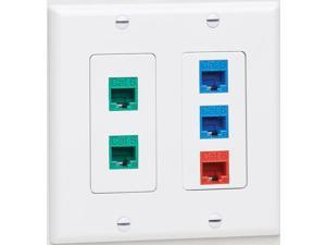 Tripp Lite Double-Gang Faceplate Decora Style Vertical White N042D200WH