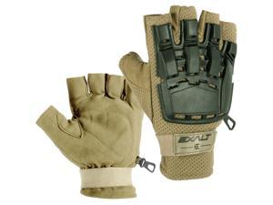 Exalt Paintball Hardshell Gloves - Hard Back Fingerless - Tan - S/M