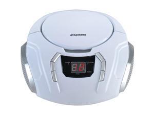 SYLVANIA SRCD261-B-WHITE Portable CD Player with AM/FM Radio (White)