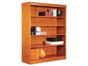 Alera Square Corner Wood Bookcase Five-Shelf 35-5/8w x 11-3/4d x 60h Medium